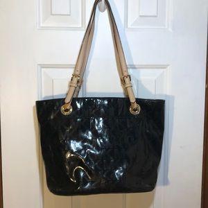 Like New!!! Michael Kors Black Faux Leather bag